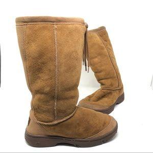 UGG VTG chestnut suede knee boots 7 BS2